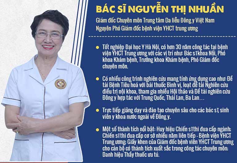 Bác sĩ Nguyễn Thị Nhuần - người trực tiếp phát triển bài thuốc An Bì Thang