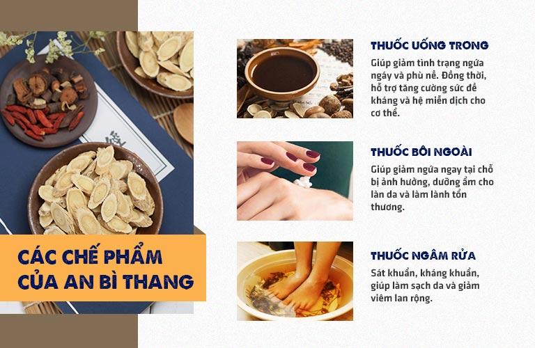Những chế phẩm trong bài thuốc An Bì Thang