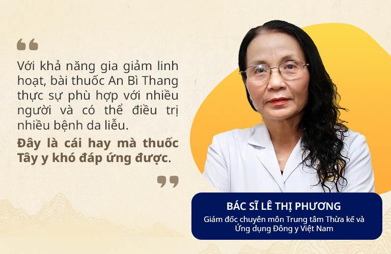 Bác sĩ Lê Thị Phương, Giám đốc chuyên môn Trung tâm Thừa kế & Ứng dụng Đông y Việt Nam