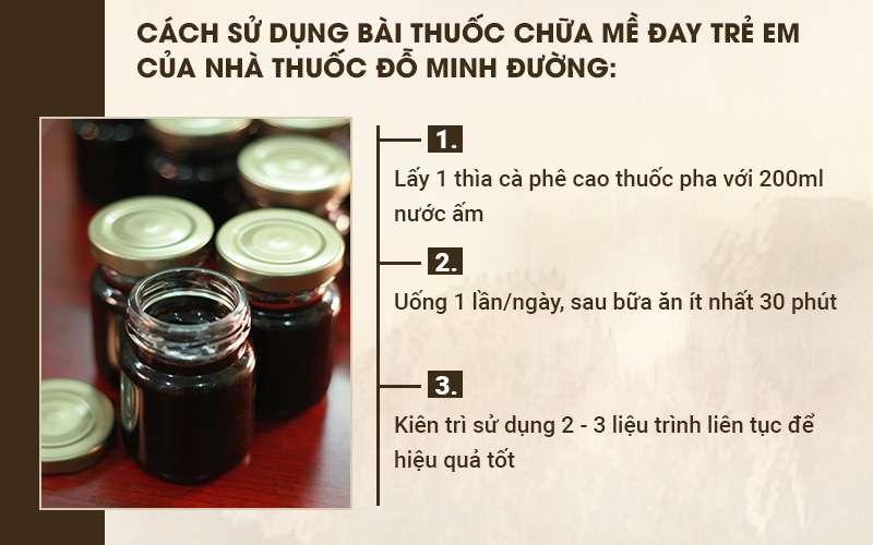 Bài thuốc chữa mề đay trẻ em nhà thuốc Đỗ Minh Đường