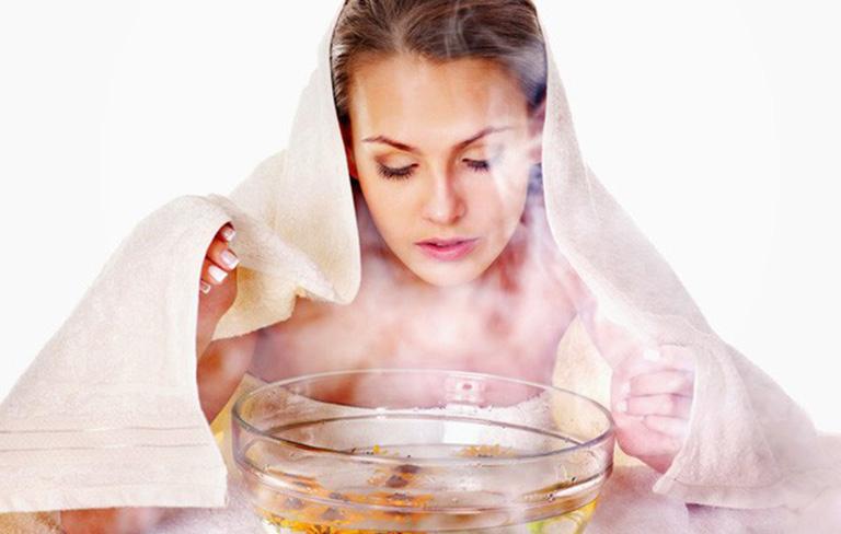 Xông hơi là biệp pháp chữa trị sổ mũi hữu ích