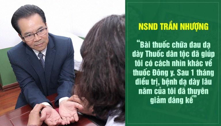 NSND Trần Nhượng chia sẻ về kết quả điều trị trào ngược dạ dày tai Thuốc dân tộc