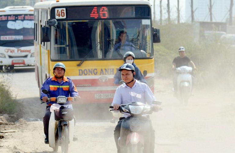 Ô nhiễm không khí là một trong những nguyên nhân chủ yếu gây viêm họng
