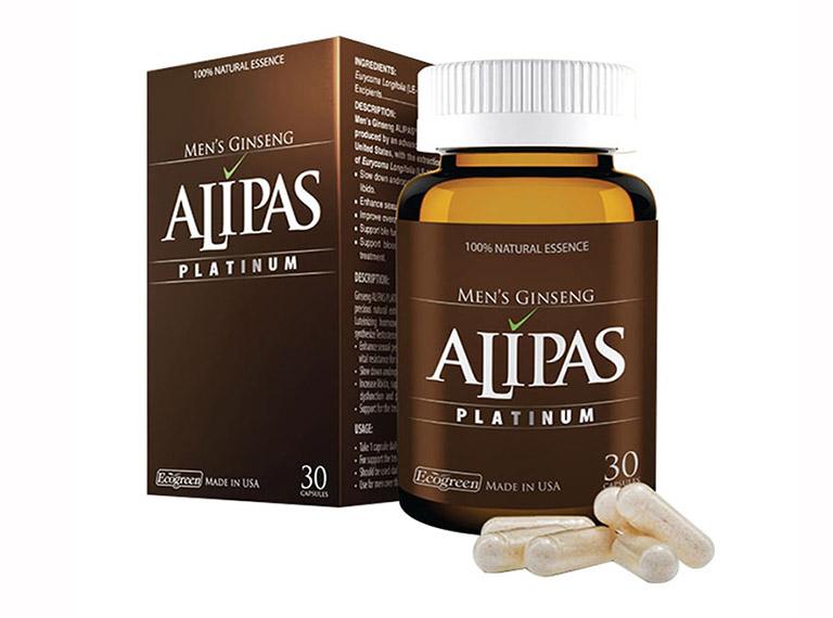 Sản phẩm Sâm Alipas Platinum được bào chế và chiết xuất từ các nguyên liệu quý hiếm có trong tự nhiên