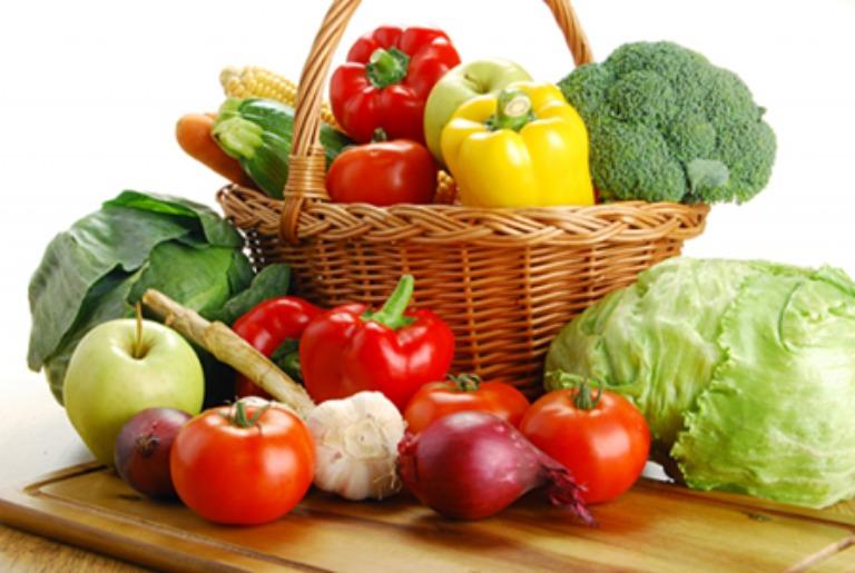 Người bệnh tổ đỉa nên ăn nhiều rau củ và trái cây tươi