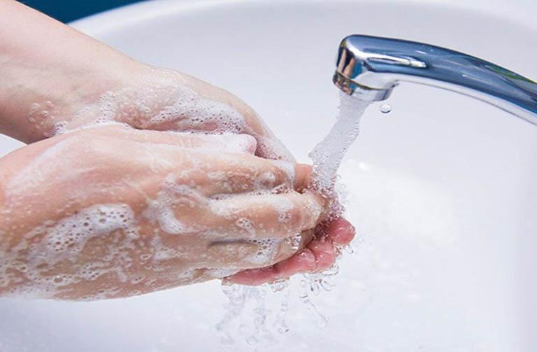 Vệ sinh da sạch sẽ sau khi tiếp xúc với mủ nhựa thực vật và côn trùng
