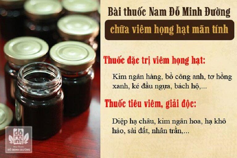 Viêm họng uống thuốc gì - Bài thuốc viêm họng Đỗ Minh Đường