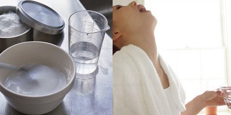 Súc miệng, súc họng bằng nước muối giảm đau họng hiệu quả