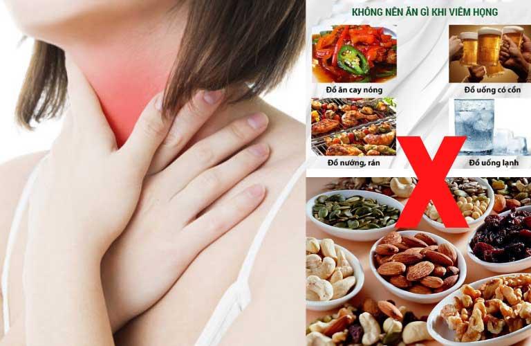Những thực phẩm không nên ăn khi bị viêm họng