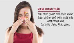 Triệu chứng đặc trưng của viêm xoang trán là các cơn đau nhức, đặc biệt nặng nề vào sáng sớm