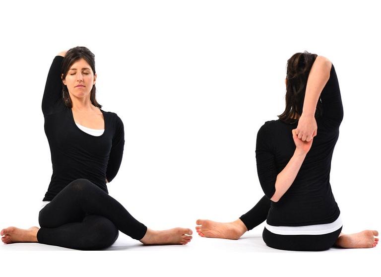 Bài tập Gomukhasana giúp lưu thông xoang mũi, giúp cải thiện chứng bệnh