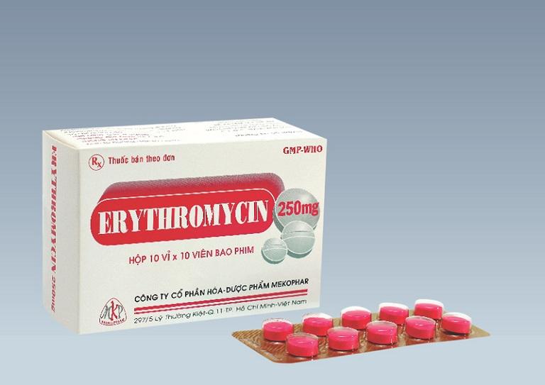 Thuốc Erythromycin chữa bệnh giảm nhanh triệu chứng khó chịu