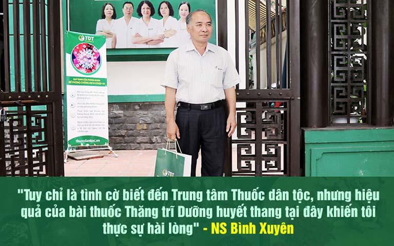 Nghệ sĩ Bình Xuyên hài lòng về kết quả điều trị tại Thuốc dân tộc