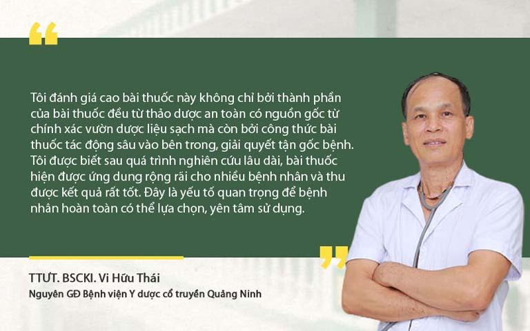 Bác sĩ Thái nhận xét bài thuốc