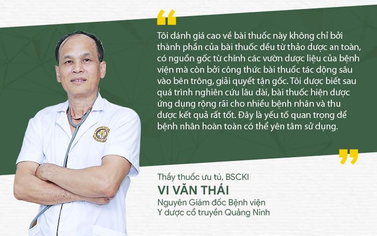 Bác sĩ Vi Văn Thái đánh giá bài thuốc Thanh Hầu Bổ Phế Thang