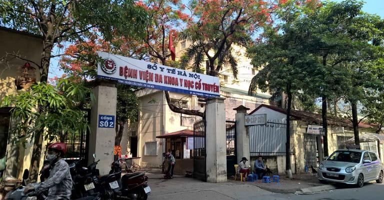 Cổng số 2 - Bệnh viện đa khoa Y học cổ truyền Hà Nội