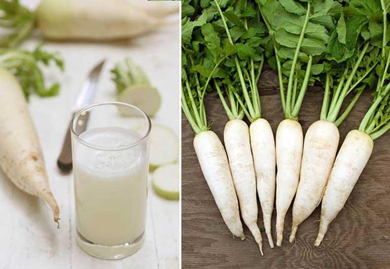Củ cải trắng giúp giảm ho khan