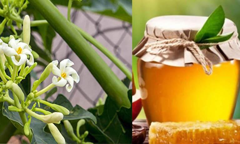 Kết hợp mật ong với hoa đu đủ phù hợp với cả trẻ nhỏ và người lớn