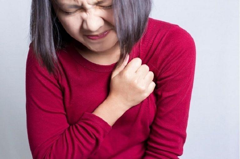 Khi bị bệnh, người bệnh xuất hiện triệu chứng đau tức ngực, khó thở