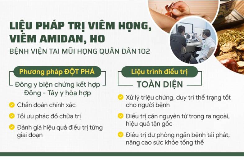 Liệu pháp chữa ho Bệnh viện Quân dân 102