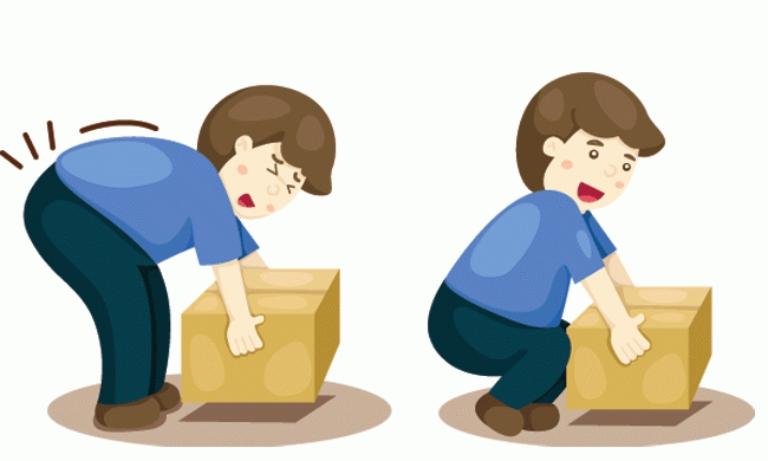 Thói quen bưng bê vật nặng sai cách gây tổn thương đến cột sống là nguyên nhân gây ra bệnh