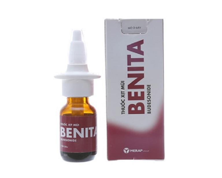 Benita là một dạng thuốc xịt chữa viêm xoang loại corticoid