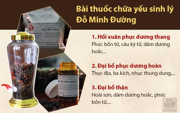 Thành phần, công dụng bài thuốc sinh lý nam Đỗ Minh