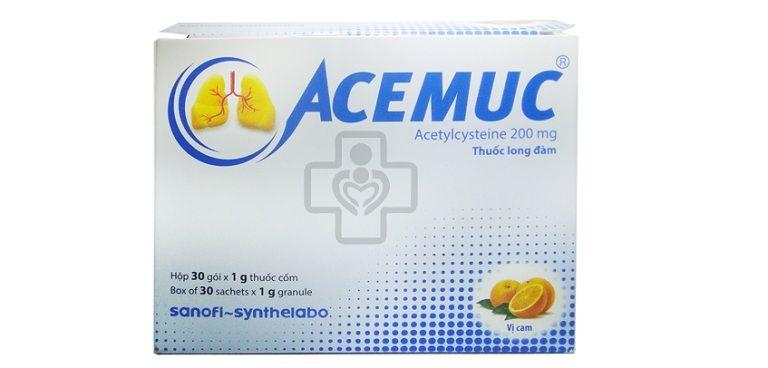 Thuốc long đờm Acemuc thường dùng cho các trường hợp bệnh về đường hô hấp trên