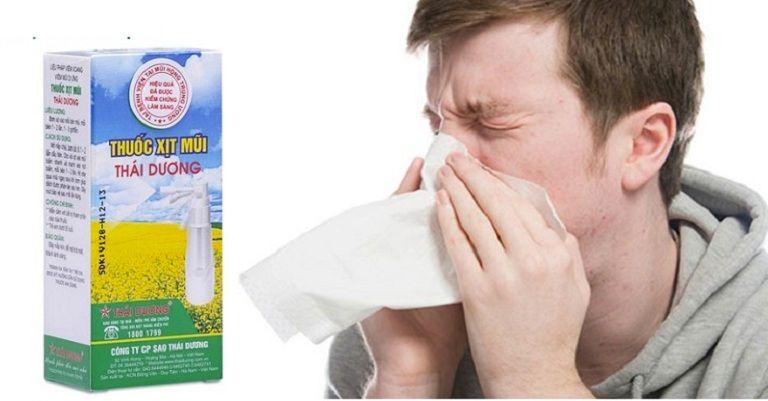 Thuốc xịt mũi Thái Dương giúp giảm nhanh triệu chứng nghẹt mũi, sổ mũi,..