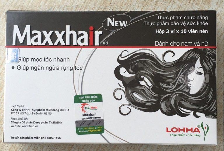 Thực phẩm chức năng chống rụng tóc Maxxhair giúp tăng cường sức khỏe cho tóc từ bên trong