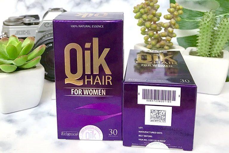 Thực phẩm chức năng Qik Hair (Cho nữ) giúp làm chậm quá trình lão hóa tóc, giảm rụng tóc