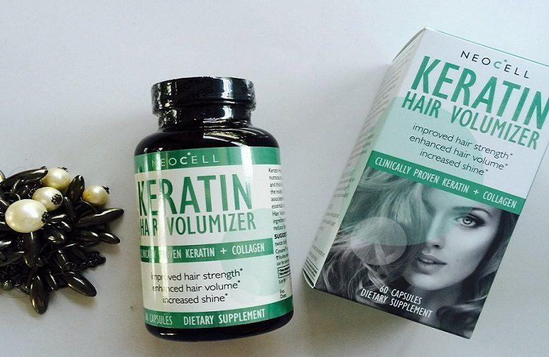 NeoCell Collagen Keratin Hair Volumize đến từ Mỹ giúp ngăn cản rụng tóc, giúp tóc chắc khỏe