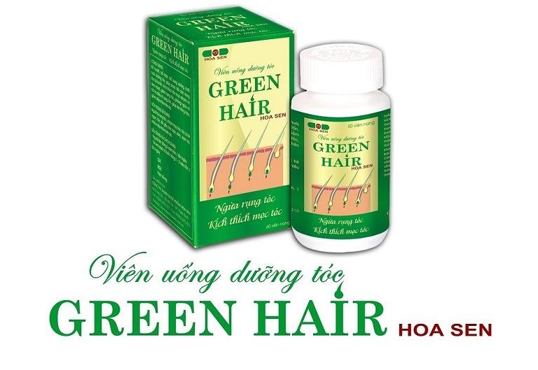 Viên uống dưỡng tóc Green Hair Hoa Sen được chế xuất trên nền tảng y học cổ truyền sở hữu sự lành tính cao