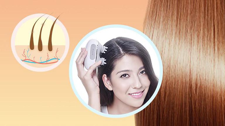Bạn có thể đầu tư một chiếc máy massage da đầu để tự trị rụng tóc tại nhà
