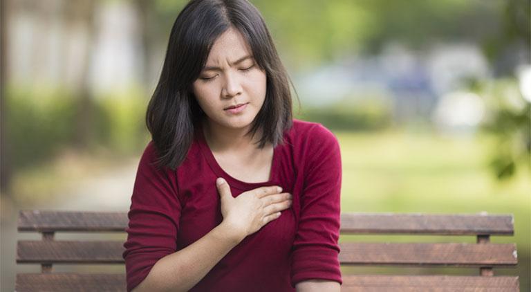 Hít thở sâu bị đau bụng phải