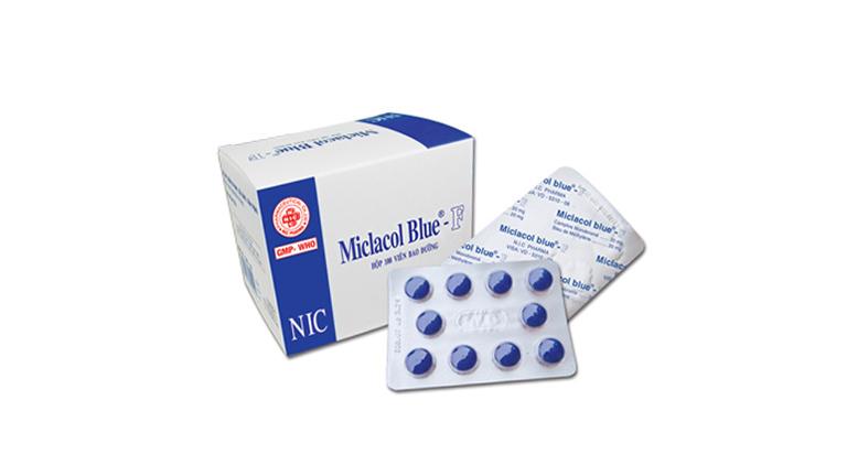 Thuốc chữa viêm đường tiết niệu màu xanh Miclacol Blue F