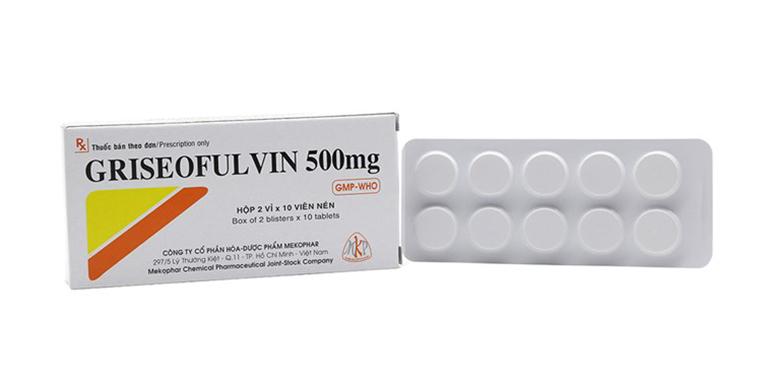 Kháng sinh chống nấm Griseofulvin 500mg