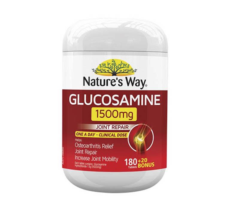 thuốc trị thoát vị đĩa đệm của Úc Glucosamine Nature's Way 1500mg