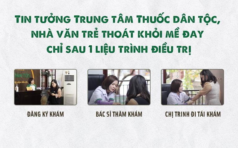 Nhà văn Hạc Xanh thăm khám và điều trị mề đay tại Trung tâm Thuốc dân tộc