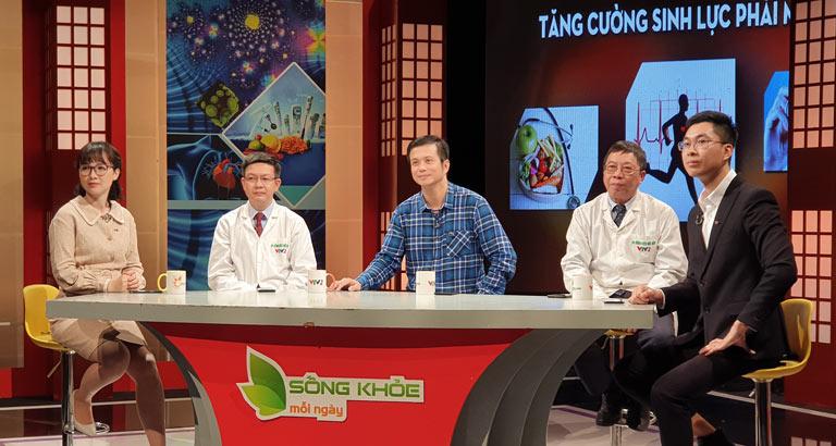 Lương y Đỗ Minh Tuấn tư vấn điều trị sinh lý nam trên Sống khỏe mỗi ngày VTV2