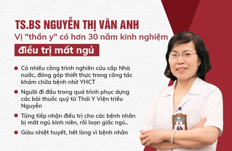TS.BS Vân Anh đã có hơn 30 năm kinh nghiệm trong việc khám chữa bệnh theo YHCT