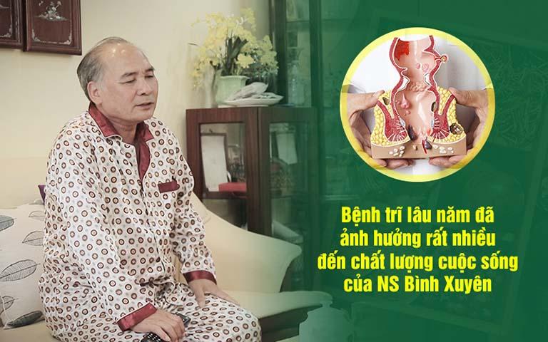 Nghệ sĩ Bình Xuyên và nỗi ám ảnh bệnh trĩ tại Thuốc dân tộc