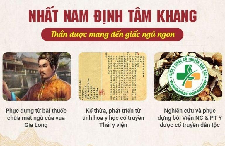 Nhất Nam Định Tâm Khang được điều chế gồm 4 bài thuốc nhỏ