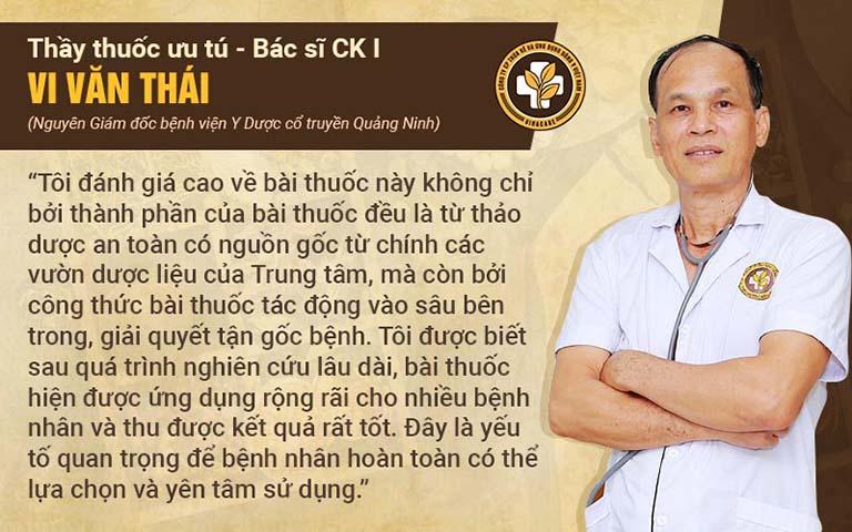 Nhận xét của chuyên gia, bác sĩ Vi Văn Thái về bài thuốc Thanh hầu bổ phế thanh
