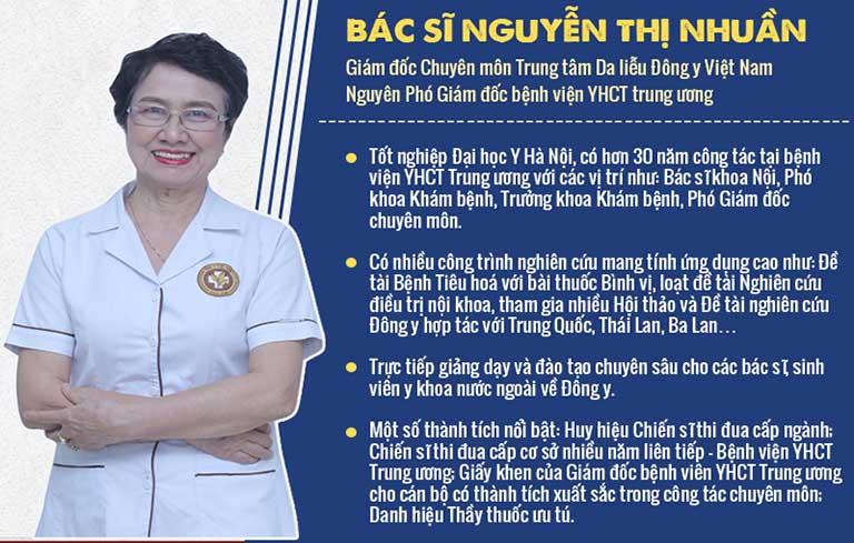 Bác sĩ Nguyễn Thị Nhuần là một trong những gương mặt được nhiều bệnh nhân tin tưởng