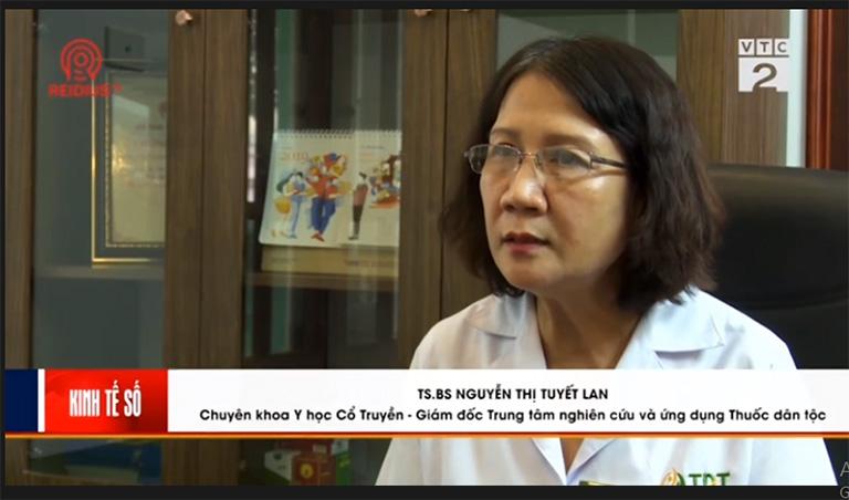 Bác sĩ Tuyết Lan giới thiệu cách chữa bệnh trĩ trên VTC2