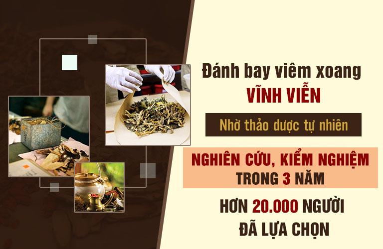 Phương thuốc chữa viêm xoang Bệnh viện Tai Mũi Họng Quân dân 102 đã điều trị thành công cho hơn 20.000 người bệnh