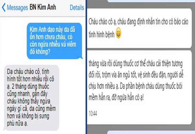 Bệnh nhân Kim Anh thường xuyên trao đổi tình hình với bác sĩ Nhuần trong quá trình sử dụng An Bì Thang