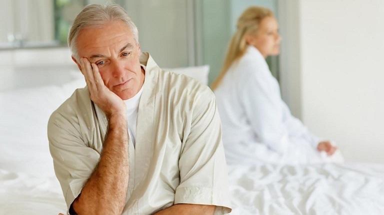 Mãn dục nam xảy ra khi nông độ Testosterone trong máu suy giảm