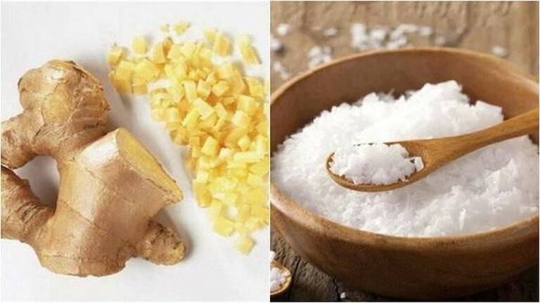 Gừng và muối kích thích lưu thông máu trong cơ thể